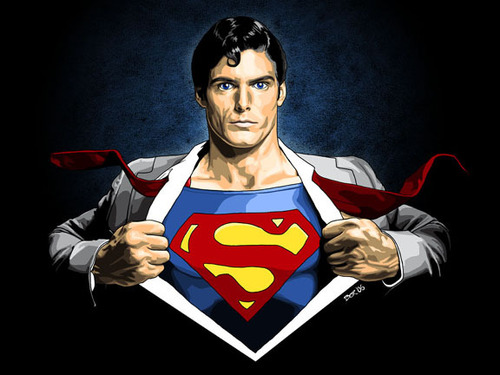 Superman Hintergrund entitled Superman/Clark Kent