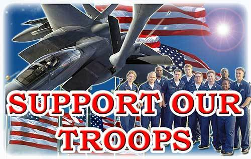 The Conservatives Club wallpaper entitled Support the Troops