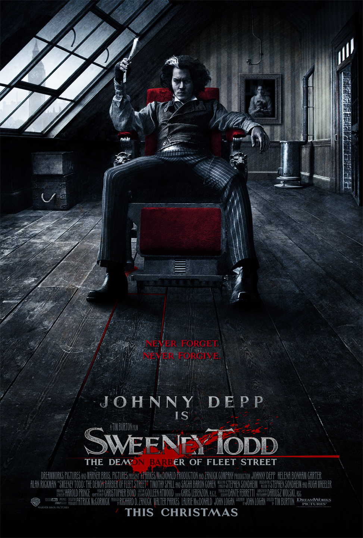 Stephen Sondheim Bilder Sweeney Todd Movie Poster Hd Hintergrund And
