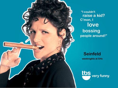 Seinfeld kertas dinding titled TBS