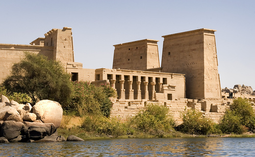 Egypt achtergrond called Temple at Philae