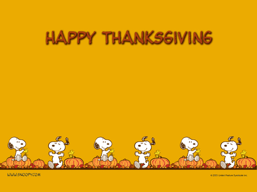 Thanksgiving - peanuts Wallpaper