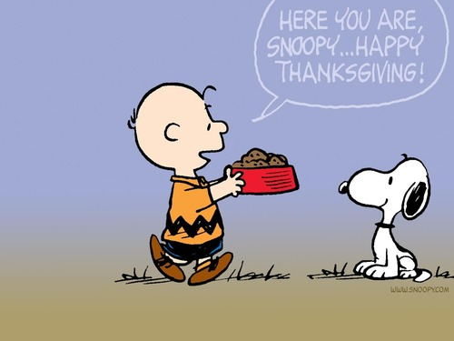 Peanuts wallpaper titled Thanksgiving