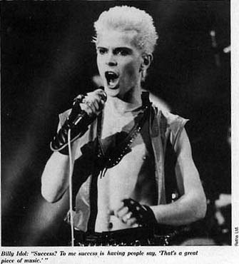 The 80s wallpaper called Billy Idol