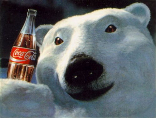 The coca cola Polar oso, oso de