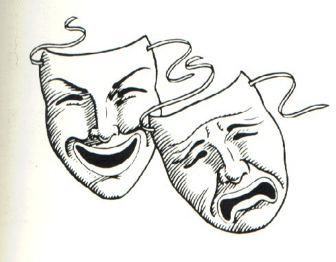 acting images the comedy and tragedy masks wallpaper and background