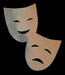 The Comedy and Tragedy Masks - acting icon