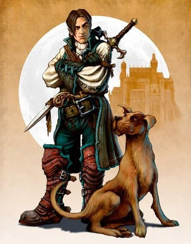 "Fable 2 concept art ""Hero and Dog Colour"""