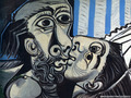 The Kiss by Picasso - fine-art wallpaper
