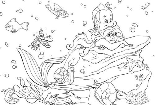 Disney karatasi la kupamba ukuta entitled The Little Mermaid