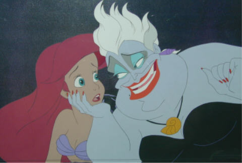 Walt ディズニー Production Cels - Princess Ariel & Ursula