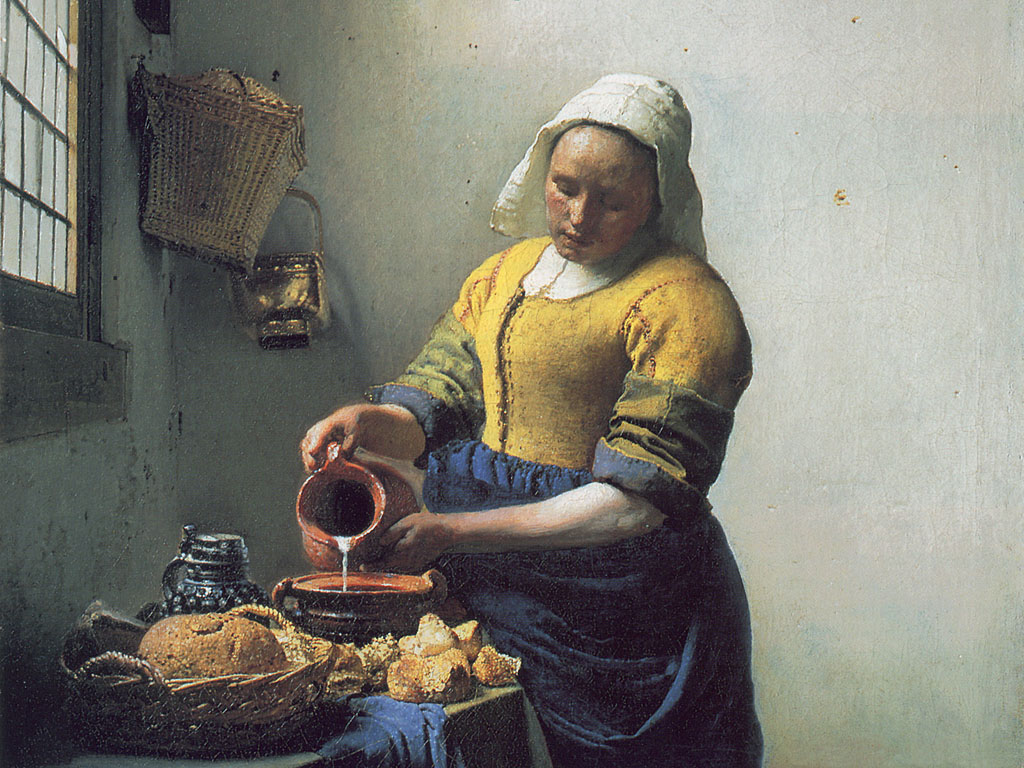 Fine Art images The Milkmaid by Vermeer HD wallpaper and background photos