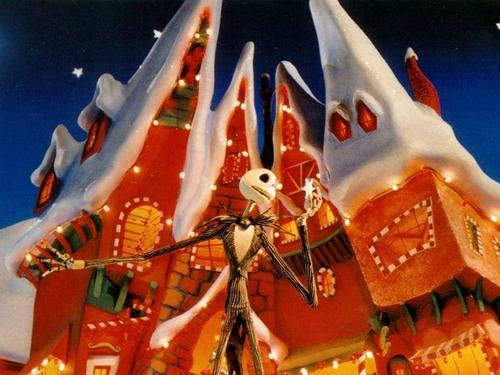tim aparejo, burton fondo de pantalla entitled The Nightmare Before navidad