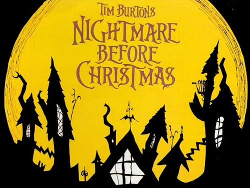 Tim burton kertas dinding titled The Nightmare Before Krismas