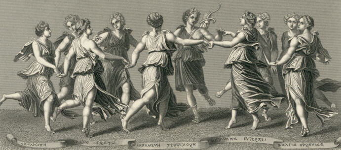 The Nine Muses - Greek Mythology 691x305