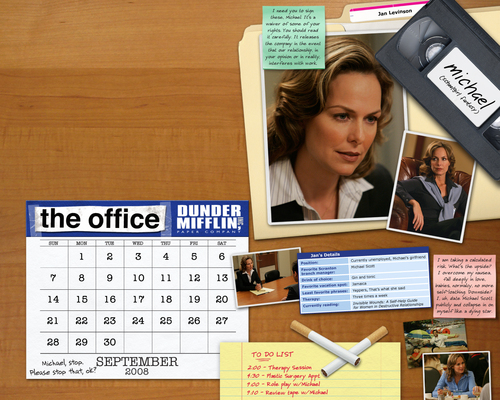 The Office achtergrond entitled The Office Calendar achtergrond