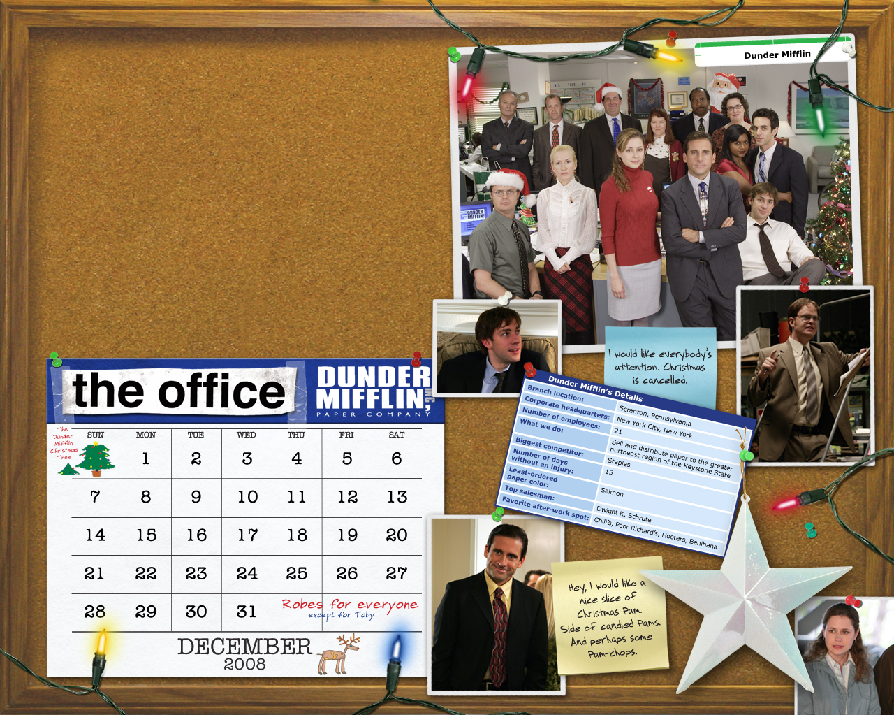 The Office Calendar پیپر وال