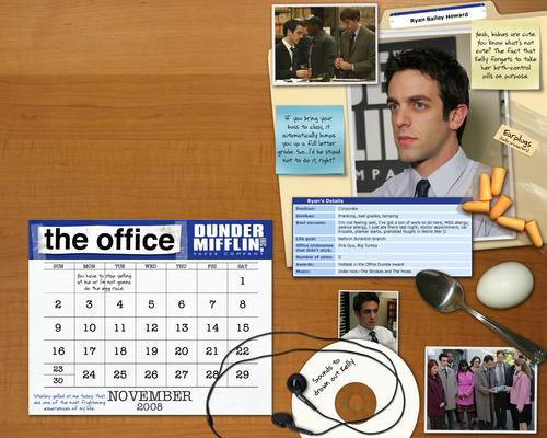 The Office Calendar Wallpaper