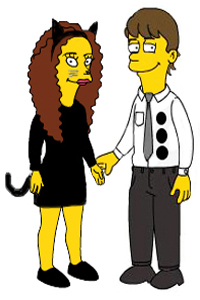 Jim and Pam Simpsonize