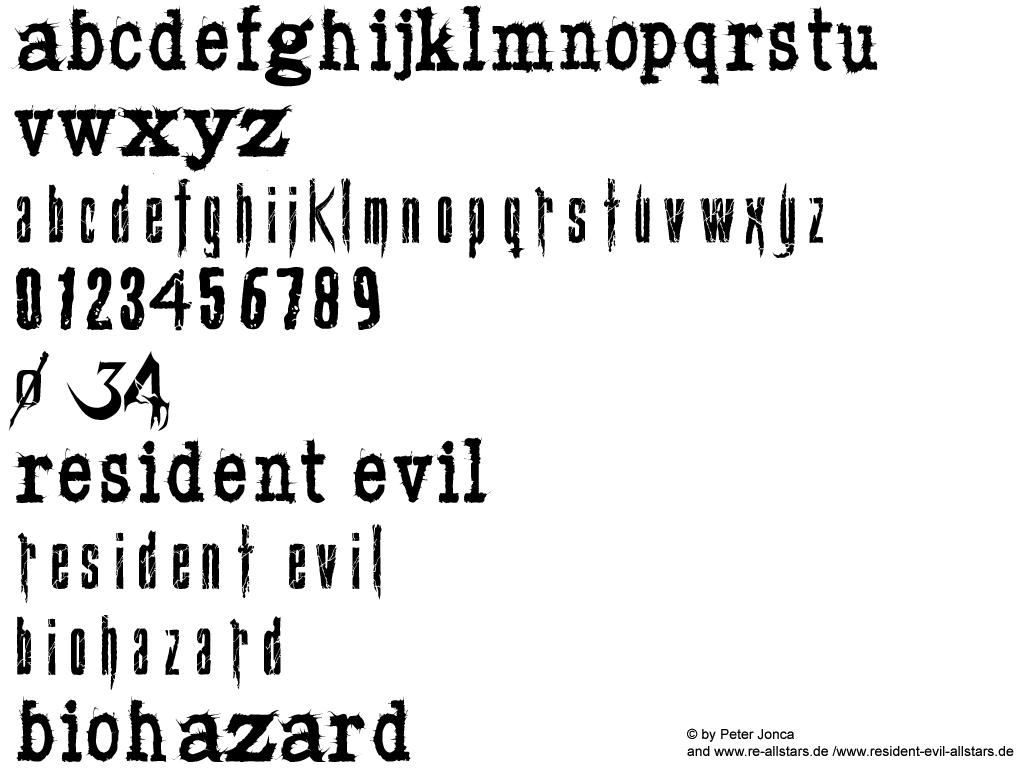 The Resident Evil Font