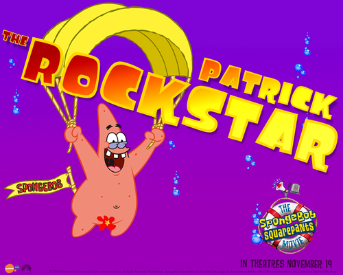 SpongeBob SquarePants karatasi la kupamba ukuta entitled The SpongeBob Movie