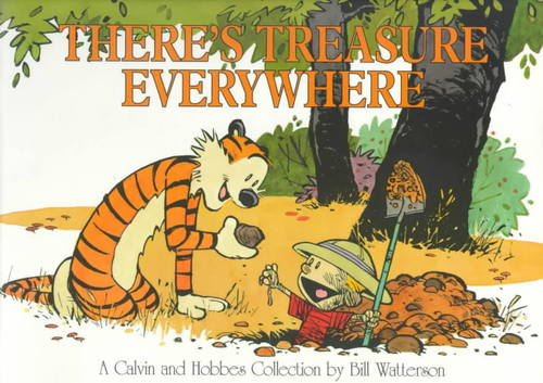 Calvin & Hobbes wallpaper titled There's Treasure Everywhere