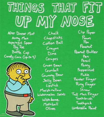 Things That Fit Up My Nose