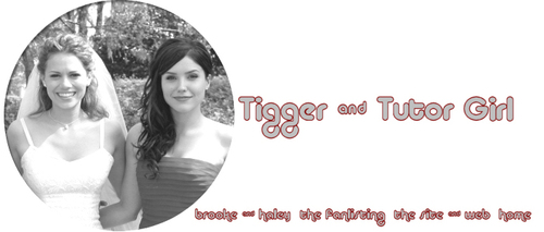 Brooke and Haley پیپر وال called Tiger and Tutor Girl