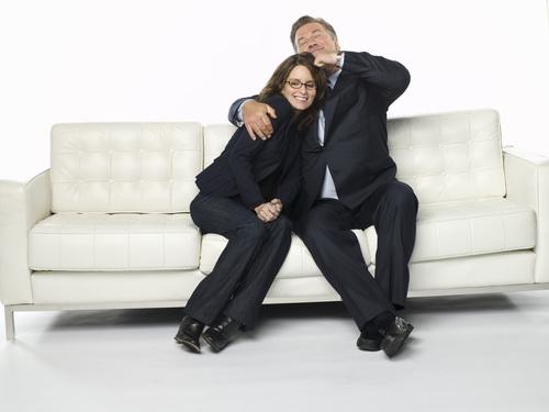 Tina Fey & Alec Baldwin - 30 Rock Portrait