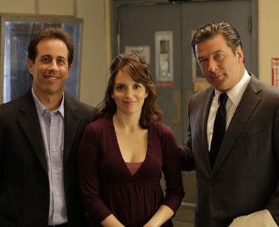 Tina with Alec Baldwin & Jerry Seinfeld