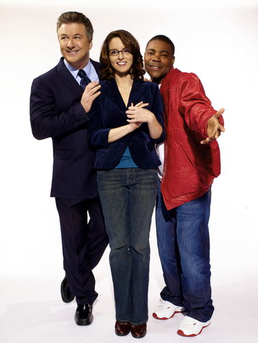 Alec Baldwin, Tina Fey & Tracy مورگن - 30 Rock Portrait