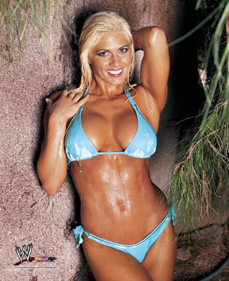 Torrie Wilson wolpeyper called Torrie - blue