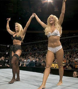 Torrie Wilson achtergrond called Torrie white and Sable black