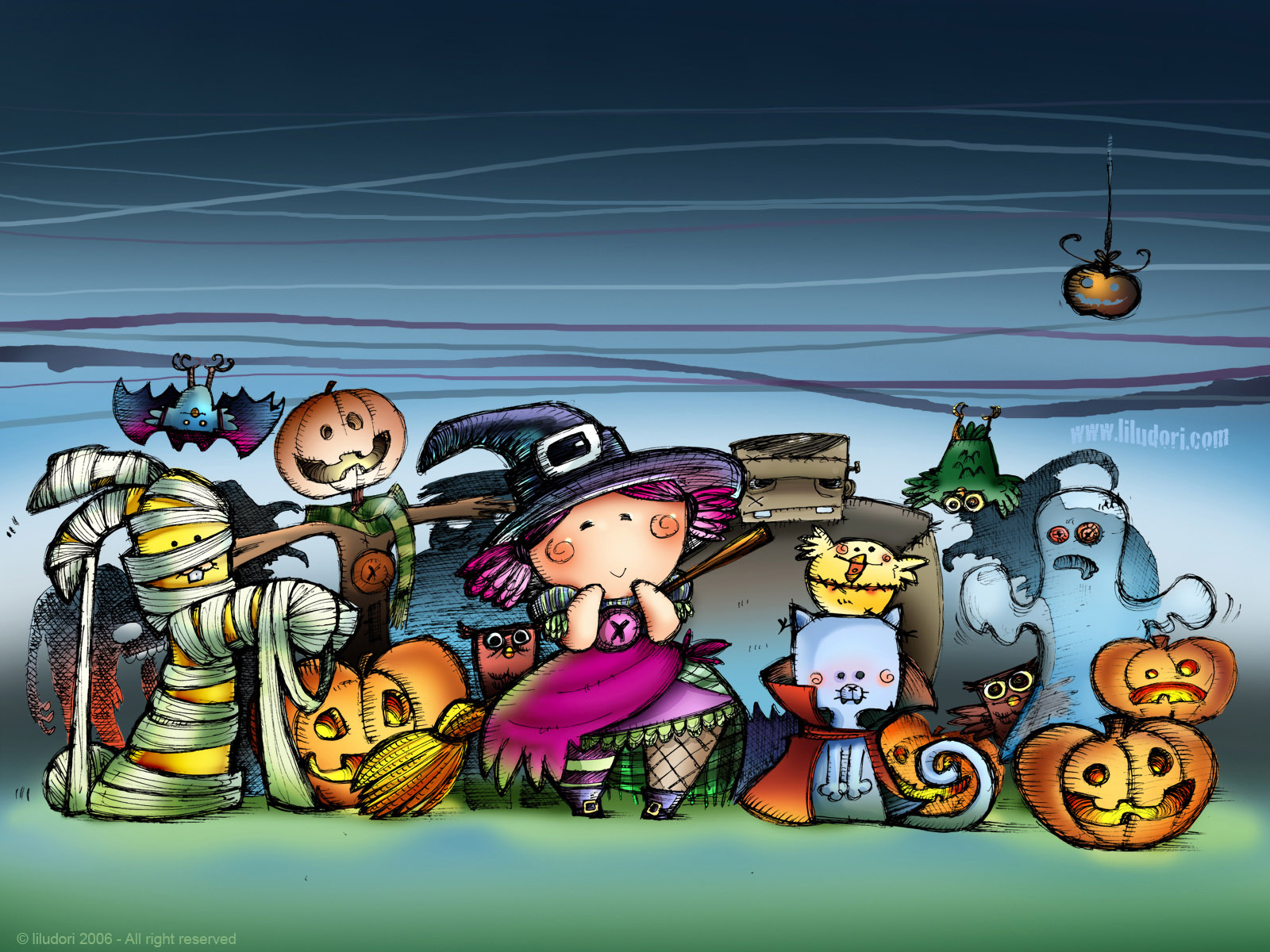 Image result for cute animated halloween pics