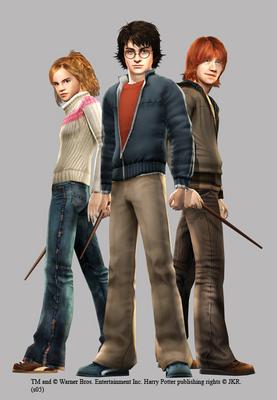 Harry, Ron and Hermione দেওয়ালপত্র entitled Trio