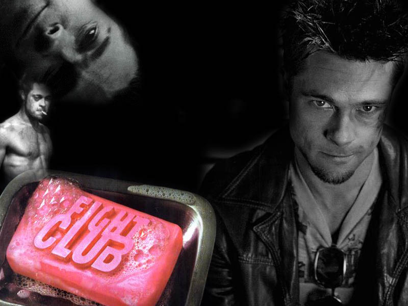 brad pitt fight club wallpaper