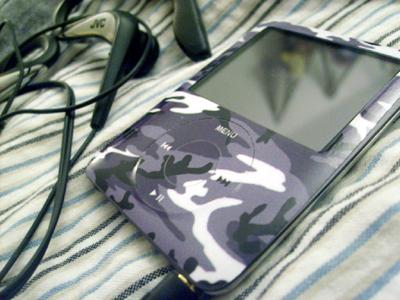 Urban Camo iPod skin