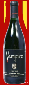 Vampire Pinot Noir - wine Photo