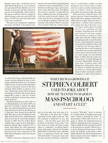 Stephen Colbert wallpaper titled Vanity Fair October 2007