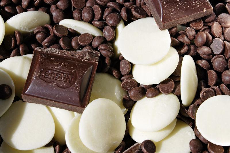 Various chocolat types