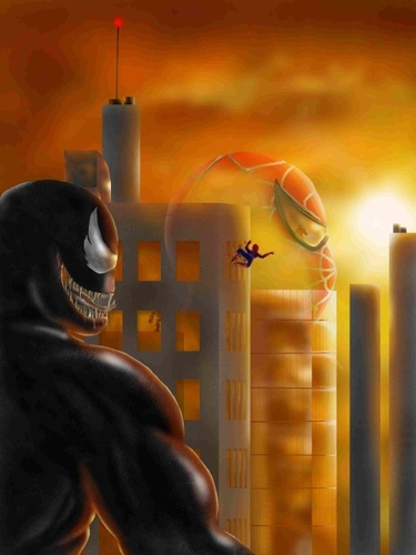 Venom stalking Spider-Man