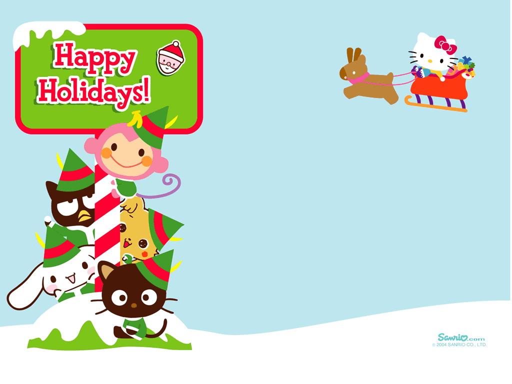 Christmas Wallpaper - Sanrio 1024x768 800x600