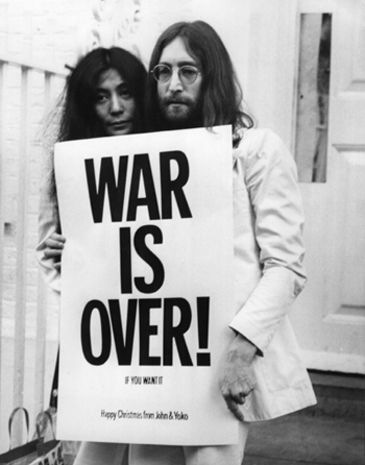 John Lennon wallpaper entitled War is Over!