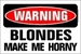 Warning - blonde-hair icon