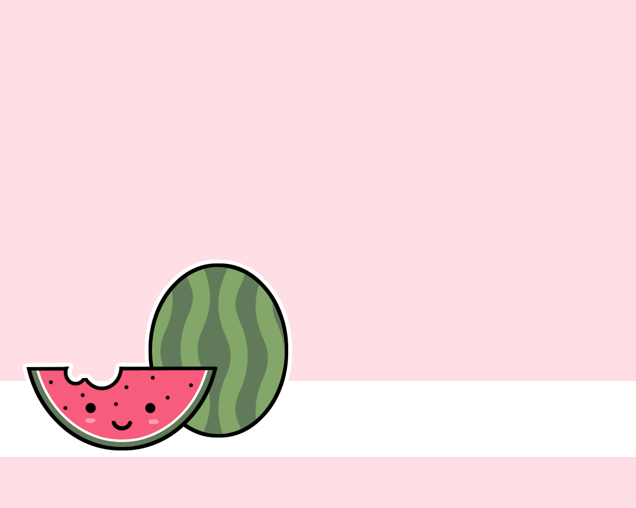 Watermelon - kawaii wallpaper
