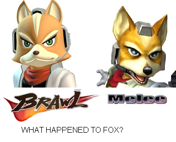 Super Smash Bros. Brawl 바탕화면 called What happened to fox?