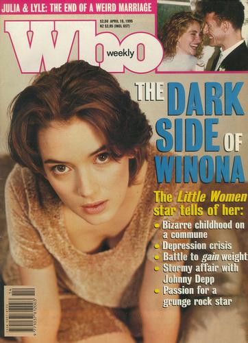 Вайнона Райдер Обои entitled Who Weekly April 1995 Cover