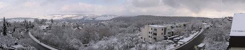 Winter panorama in Stuttgart