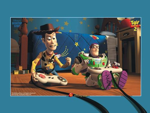 toy story - um mundo de aventuras wallpaper entitled Woody & Buzz Lightyear