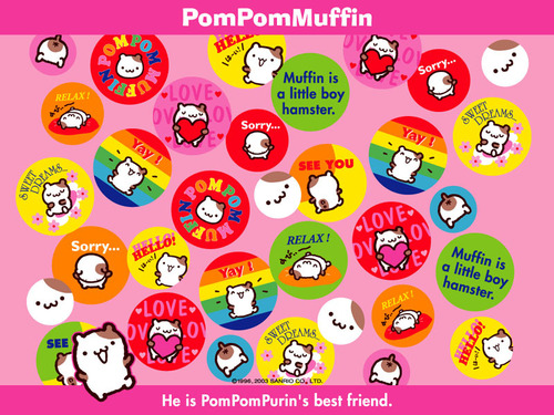 sanrio wallpaper titled Pom Pom queque, muffin